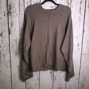 CALVIN KLEIN Taupe Cape Sweater Small